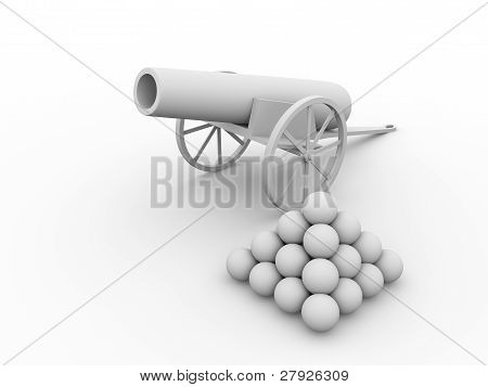Cannon With Projectiles