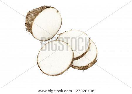 Sliced Malanga Tuber