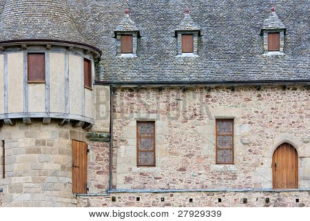 An Old Castle In Brittany, France