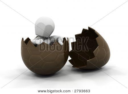 Person Inside Easter Egg