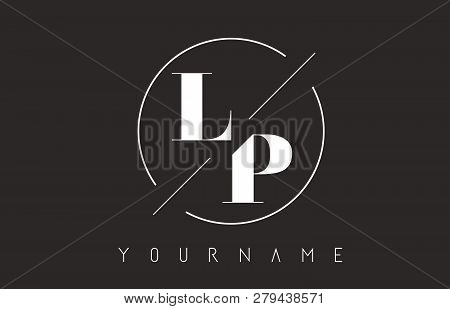 Lp Letter Logo With Cutted