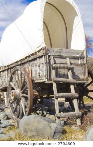 Covered Wagon From The Rear