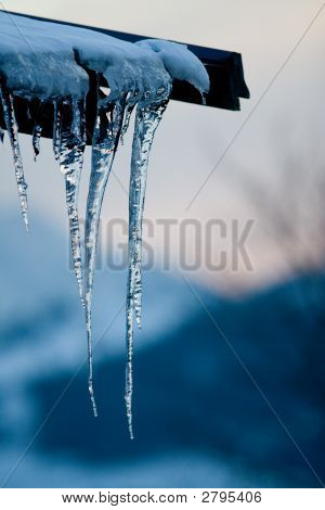 Roof Icicle Dusk