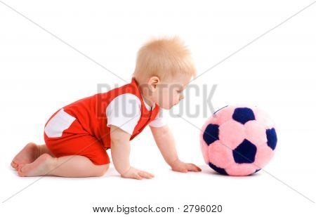 Baby Boy Playing Football