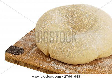 Dough Ball On Cutting Board