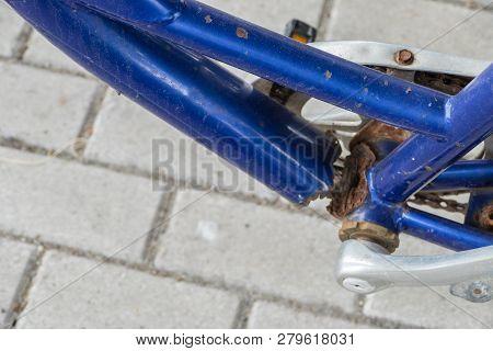 Broken Bicycle Frame Danger Dangerous