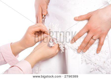Tailor Sew Dress Of Bride