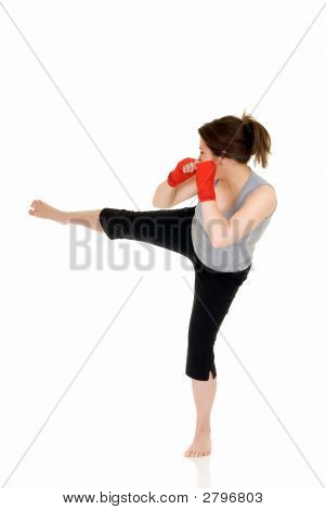 Young Female Thai Boxer