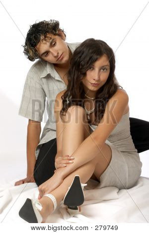 Loving Teen Couple, Happy And Fun