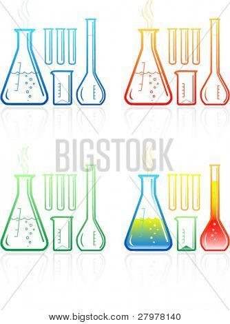 Chemical test tubes icons
