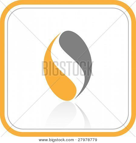 Vector abstract internet icon. Orange set. Simply change.