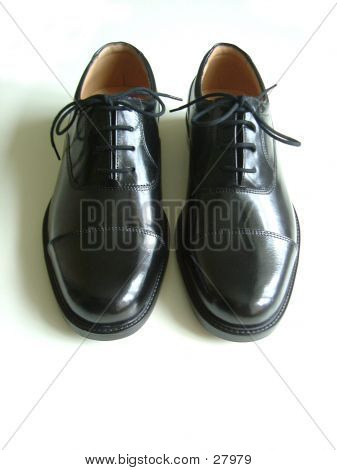 Black Shoes With Tied Lace
