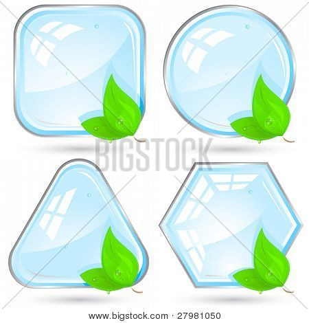 Eco design. Vector illustration. All layers are grouped.