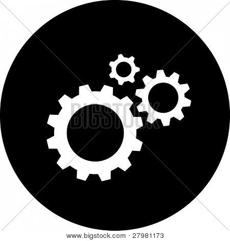 Vector icon of gears. All layers are grouped.