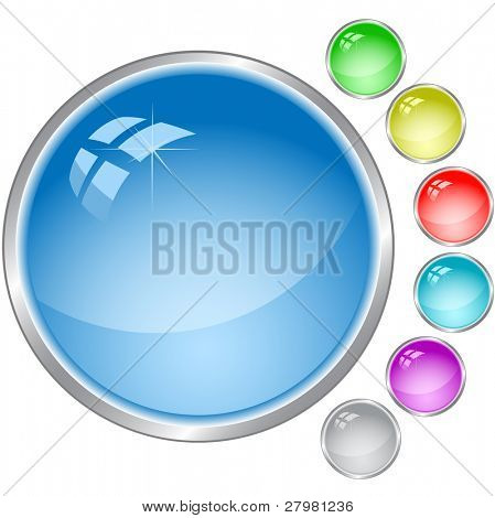 vector template of internet button. All layers are grouped.