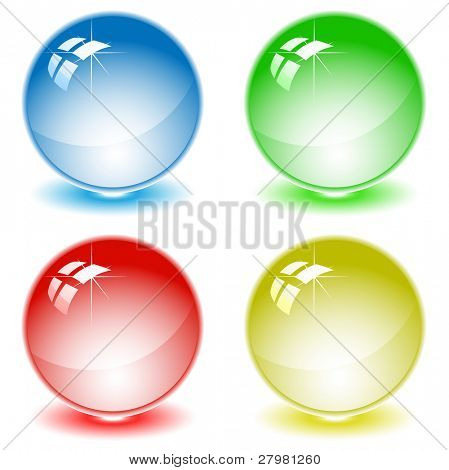set of color balls. All layers are grouped.