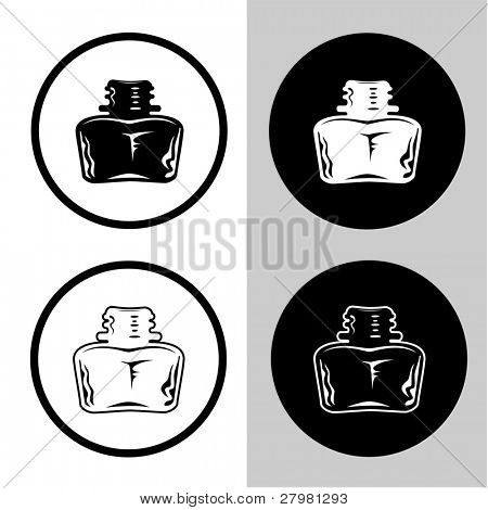 vector icons of inkstand