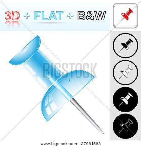 Vector Push Pin icons