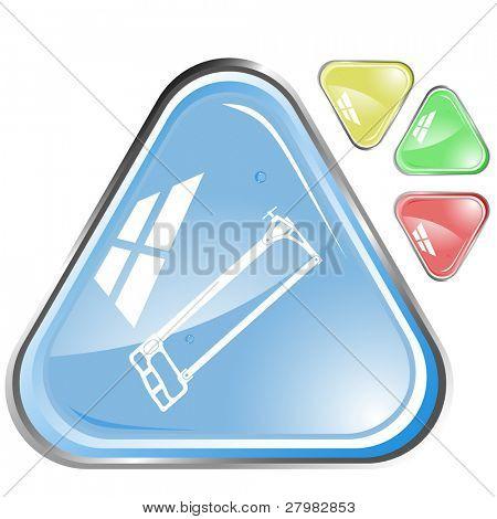 icono de vector de sierra para metales
