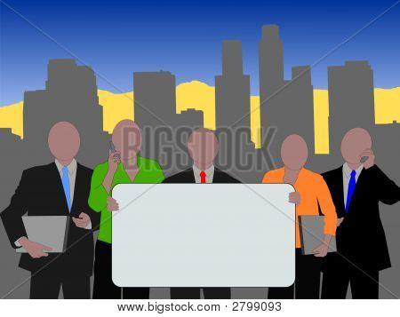 Equipe do negócio de Los Angeles