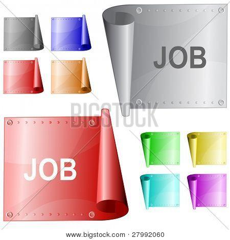 Job. Vector metal surface.