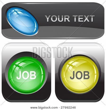 Job. Vector internet buttons.