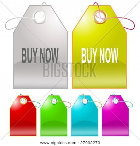 Buy now. Vector tags.