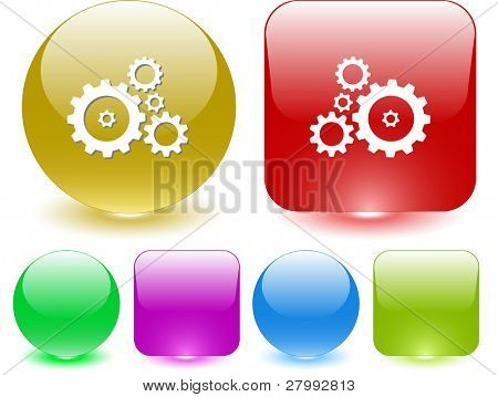 Gears. Vector interface element.