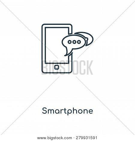 Smartphone Icon In Trendy Design