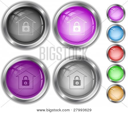 Bank. Vector internet buttons.