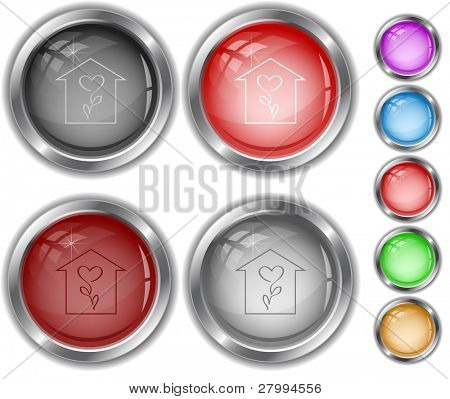 Flower shop. Vector internet buttons.
