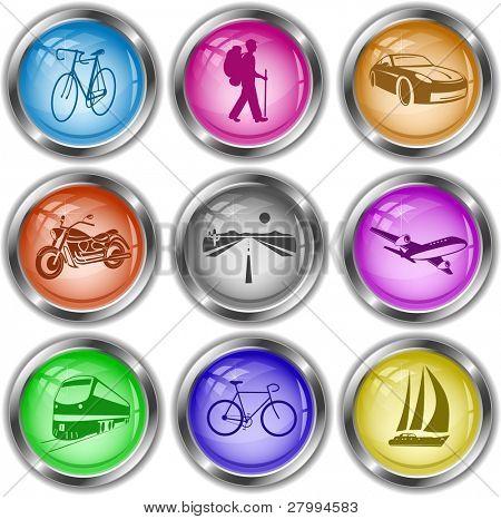 Vektor-Icons von transport