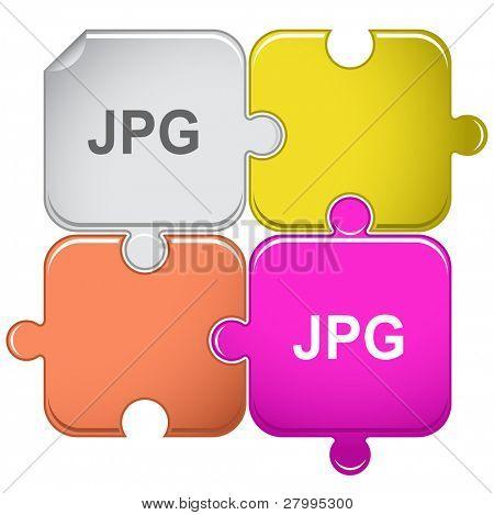 Jpg. Vector puzzle.