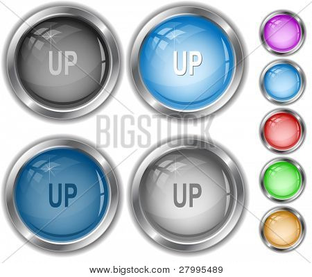 Up. Vector internet buttons.