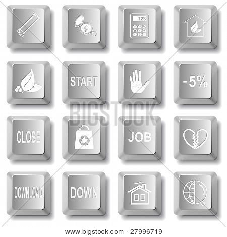 Vector set of computer keys