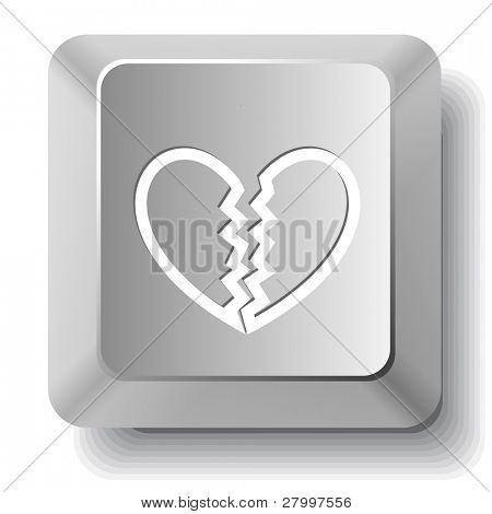 Unrequited love. Vector computer key.