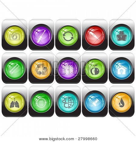 Raster set of internet buttons