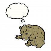 stock photo of sneaky  - sneaky bear cartoon - JPG
