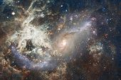 Beautiful Of Universe. Science Fiction Wallpaper. Elements Of This Image Furnished By Nasa. poster