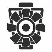 Car Motor Ventilator Icon. Simple Illustration Of Car Motor Ventilator Vector Icon For Web Design Is poster
