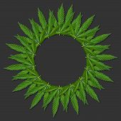 Hemp Or Cannabis Leaf Picture Frame poster