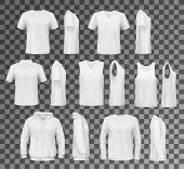 T-shirt Templates, Hoodie And Sweatshirt, Polo And Singlet Or Sleeveless Shirt. Vector Male Clothes  poster