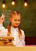 Creative Idea. Creative Idea Of Little Kid In School. Girl Has Creative Idea. Creative Idea And Insp poster