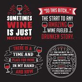 Wine Saying Quote Set, 100 Vector, Best For Print poster