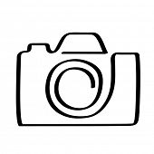 vector pictogram van camera