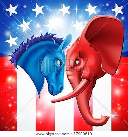 amerikanische Politik-Konzept