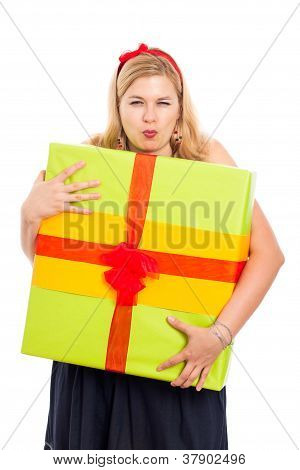Greedy Woman With Gift