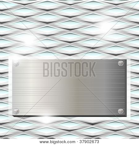 Ribbed Glass With Metal Plate