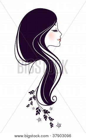 Mulher bonita com Floral