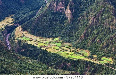 Mountain lanscape in Lower Dolpo, Nepal